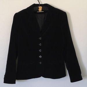 Vintage black velvet jacket